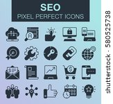 set of pixel perfect search... | Shutterstock .eps vector #580525738