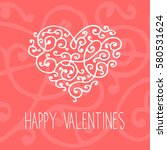 floral curly vintage elements | Shutterstock .eps vector #580531624