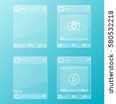 social network post glass... | Shutterstock .eps vector #580532218
