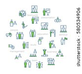 business people presentation...   Shutterstock .eps vector #580534906