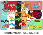 vector comic book sound effects ... | Shutterstock .eps vector #580537618