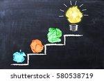 evolving idea concept with... | Shutterstock . vector #580538719