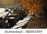french barge in paris | Shutterstock . vector #580541959