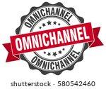 omnichannel. stamp. sticker.... | Shutterstock .eps vector #580542460