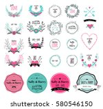 floral vector elements. set of... | Shutterstock .eps vector #580546150
