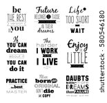 hand drawn typography design.... | Shutterstock .eps vector #580546180