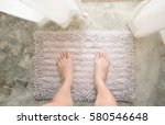 woman feet standing on old... | Shutterstock . vector #580546648