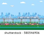 comfort urban cityscape with... | Shutterstock .eps vector #580546906