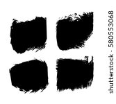 set of black paint  ink  grunge ...   Shutterstock .eps vector #580553068