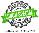 lunch special. stamp. sticker.... | Shutterstock .eps vector #580555204