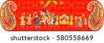 indian wedding ceremony .   ... | Shutterstock .eps vector #580558669