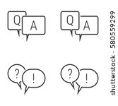questions and answers icons | Shutterstock .eps vector #580559299