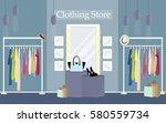 Modern Clothing Store Interior...