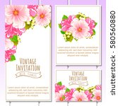 romantic invitation. wedding ... | Shutterstock . vector #580560880