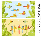 two colorful background with ... | Shutterstock .eps vector #580563844