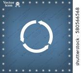 circular arrows vector icon | Shutterstock .eps vector #580566568