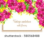 Stock vector romantic invitation wedding marriage bridal birthday valentine s day 580568488