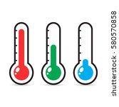 thermometers icon with... | Shutterstock .eps vector #580570858