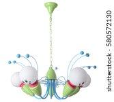 chandelier isolated on white... | Shutterstock . vector #580572130
