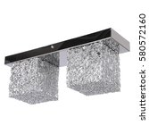 chandelier isolated on white... | Shutterstock . vector #580572160