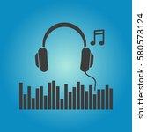 pictograph of headphones in...   Shutterstock .eps vector #580578124