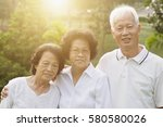 portrait group of healthy asian ... | Shutterstock . vector #580580026
