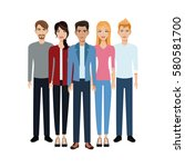 group people unity team | Shutterstock .eps vector #580581700