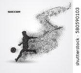 soccer football player of a... | Shutterstock .eps vector #580590103
