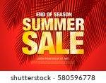 summer sale template banner | Shutterstock .eps vector #580596778
