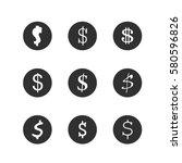 money icons dollar web set | Shutterstock .eps vector #580596826