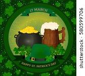 saint patrick's background  ...   Shutterstock .eps vector #580599706
