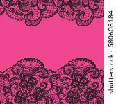 seamless lace border. vector... | Shutterstock .eps vector #580608184