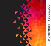 background of geometric shapes. ... | Shutterstock .eps vector #580611070