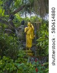 Golden Buddha Statue In The...