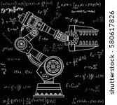 industrial robot hand vector...   Shutterstock .eps vector #580617826