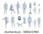 display window and tailor... | Shutterstock .eps vector #580621984