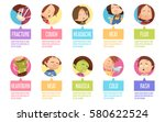 isolated in circles cartoon... | Shutterstock .eps vector #580622524