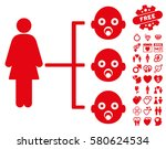 nursery kids relations... | Shutterstock .eps vector #580624534