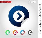 colored icon or button of right ... | Shutterstock .eps vector #580626874