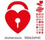 love heart lock icon with bonus ... | Shutterstock .eps vector #580626940