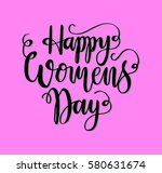happy women's day. hand... | Shutterstock .eps vector #580631674