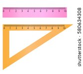 set of measuring tools  rulers  ...   Shutterstock .eps vector #580634308