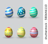 easter eggs icons. | Shutterstock .eps vector #580646110