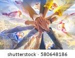 multiethic of businessman ... | Shutterstock . vector #580648186