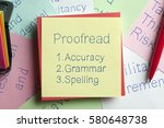 Top View Of Proofread Written...