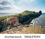 girls hiking the worms head...   Shutterstock . vector #580659094