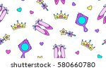 little princess seamless... | Shutterstock .eps vector #580660780