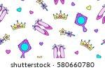little princess seamless... | Shutterstock .eps vector #580660780