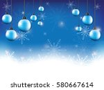 snowflake on background and in... | Shutterstock .eps vector #580667614