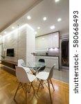 apartment interior   dining area | Shutterstock . vector #580668493